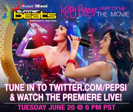 Tune in to www.Twitter.com/PEPSI & watch the #KatyPerryPremiere LIVE starting at 6PM PST!