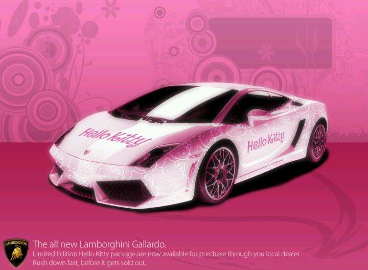 Pink Lamborghini Pretty Pinky Things Hello Kitty Car Pink Lamborghini Hello Kitty