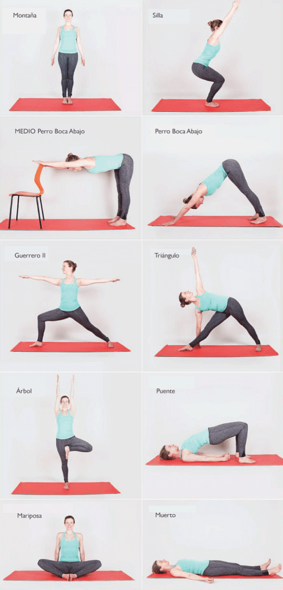 Guia De Posturas De Yoga Para Principiantes Posturas De Yoga Para Principiantes Rutina Para Principiantes Yoga Principiantes