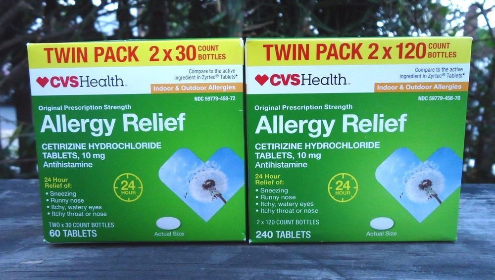 Cvs Allergy Relief Twin Pack 240 60 300 Total Tablets 10mg Antihistamine 24 Hrs Cvs Allergy Relief Allergies Outdoor Allergy