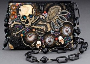 bead embroidered rock and roll purse by Sherry Serafini, bead embroidery