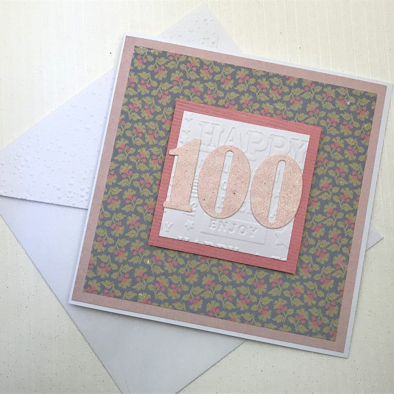 100th Birthday Card Handmade Ready For Delivery