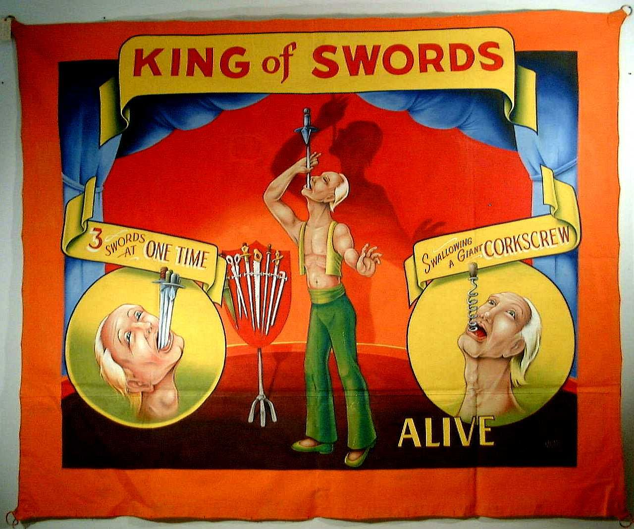 The Carl Hammer Gallery Has A Great Collection Of Vintage Side Show Banners For Sale I Love Artwork On These