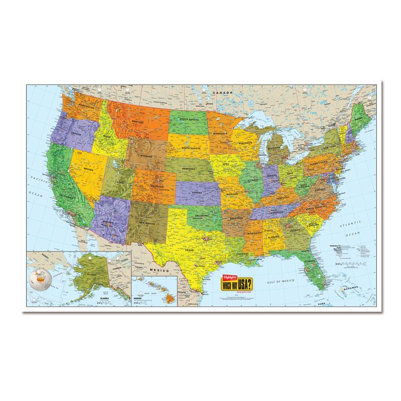 U S Wall Map