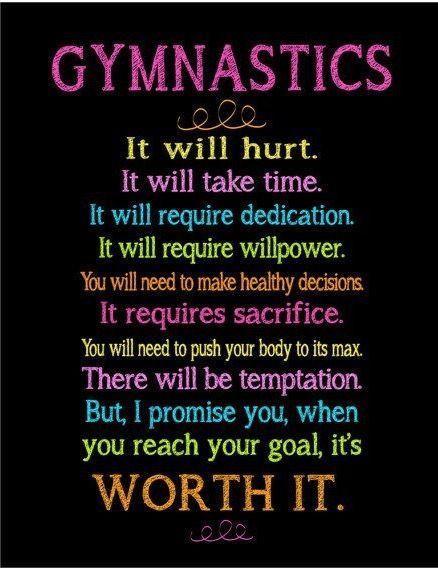 Inspirational Gymnastics Quotes Love this gymnastics quote, very inspiring:) #ad | Gymnastics  Inspirational Gymnastics Quotes