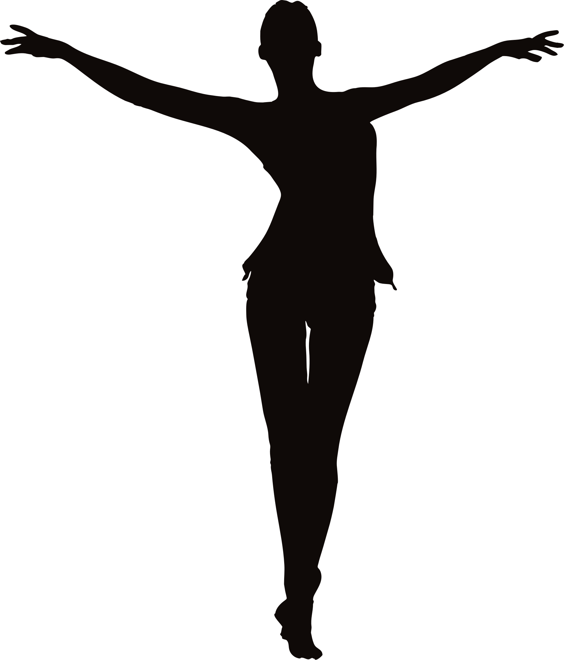 Female Figure Arms Up Clipart Woman With Outstretched Arms Silhouette Dance Images Silhouette Silhouette Art