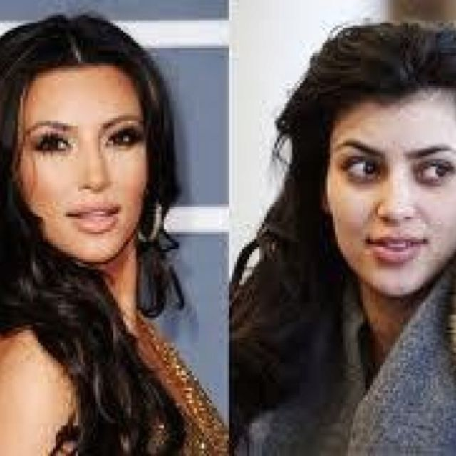 Kim K with no makeup. Makes me feel better about myself with no makeup! :p