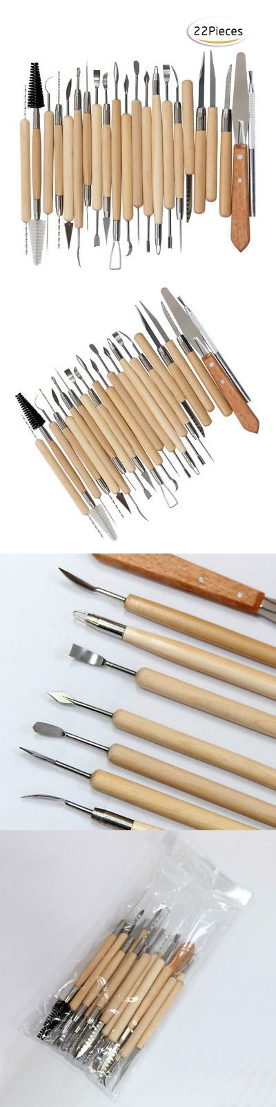 22pcs Set Tools Clay Sculpting Set Wax Carving Pottery Shapers Polymer Modeling