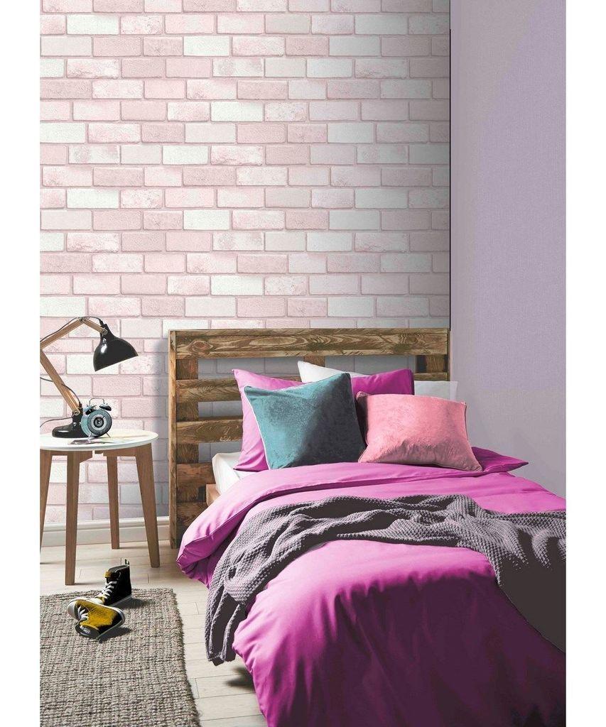 Diamond Pink Brick Brick Wallpaper Bedroom Rose Gold Room Decor Brick Wallpaper Pink