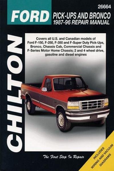 Chilton S Ford Pick Ups And Bronco 1987 96 Repair Manual Chilton S Total Car Care Repair Manual By Jaffer A Ahmad W G Nichols Repair Manuals Car Care Totaled Car