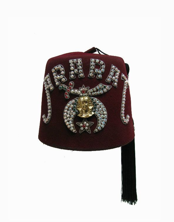 Vintage Shriners Fez With Tassel Mens Ararat Red Turkish Masonic Hat By  Atomicfireball On Etsy ...