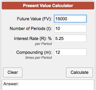 Calculate The Present Value Of A Future Value Lump Sum Of Money Using Pv X3d Fv X2f 1 I N The Present Value I Investing Calculator Basic Calculators