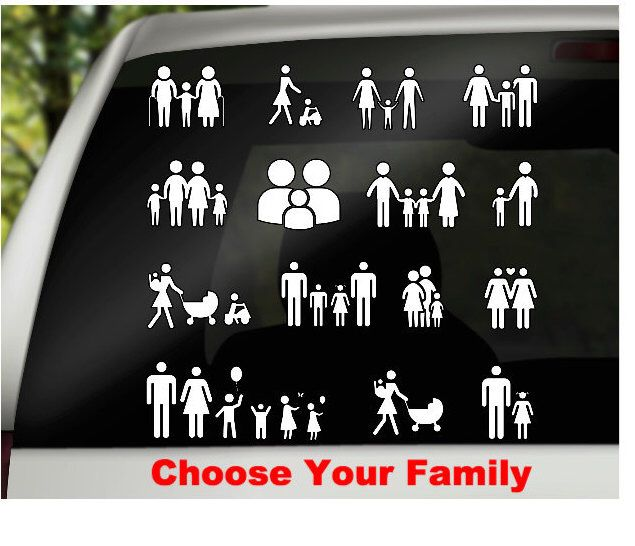 A Personal Favorite From My Etsy Shop Httpswwwetsycomlisting - Family car sticker decalsfamily car decal etsy
