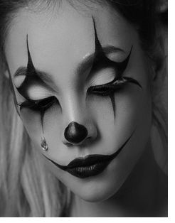 Black White Makeup With Images Halloween Makeup Easy