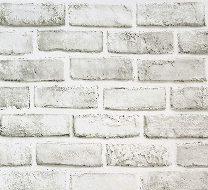 Brick Contact Paper 17 71 X118 White Grey Self Adhesive Wallpaper Removable Brick Peel Wallpaper Shelves Brick Wallpaper Self Adhesive Wallpaper