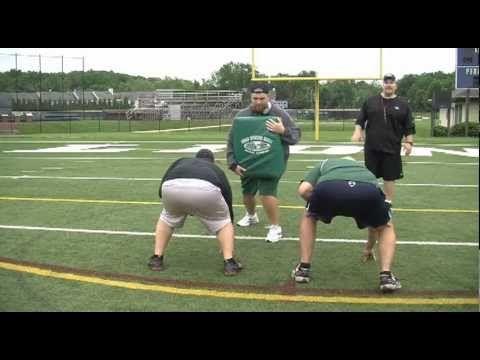 Devlin Football Camp Offensive Line Drills Deuce Tray Ace Block