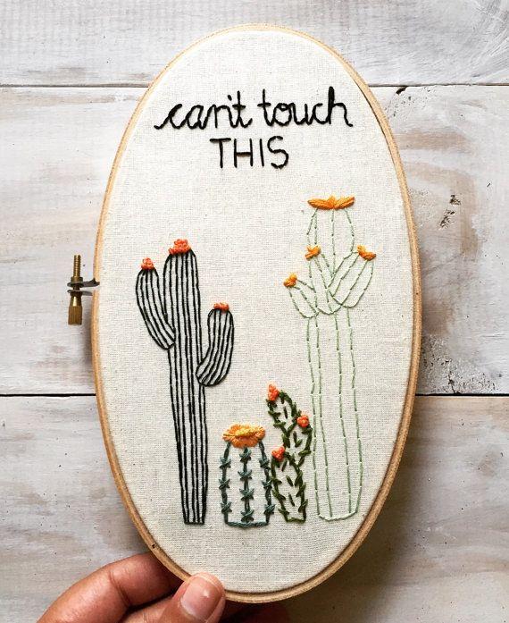 Kaktus Stickerei Stickrahmen Von Kimart Von Kimart Auf Etsy