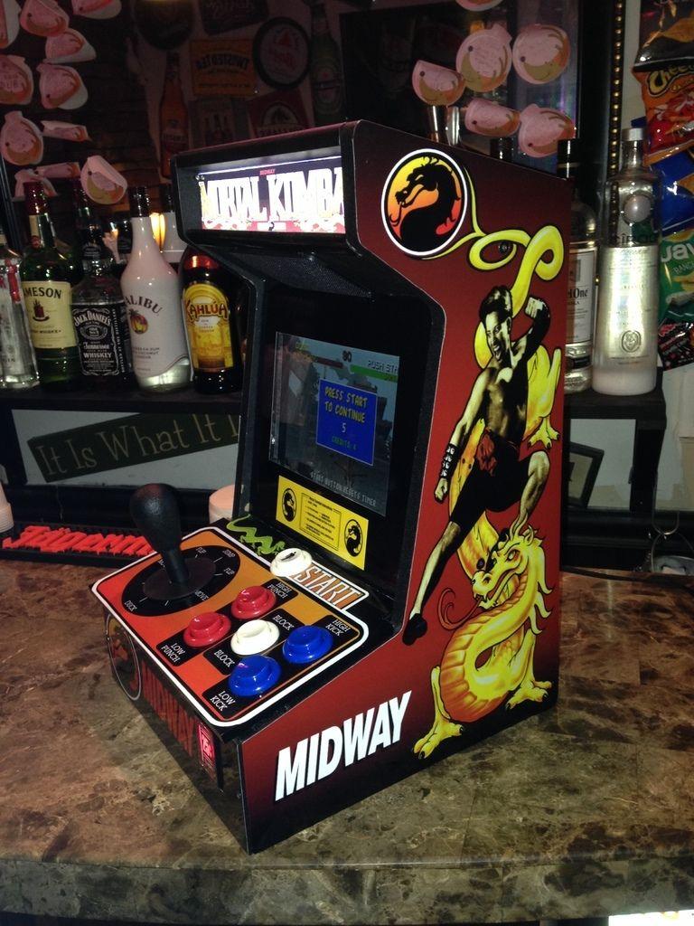 Miniature Mortal Kombat Completed | Bartop Arcade | Mortal