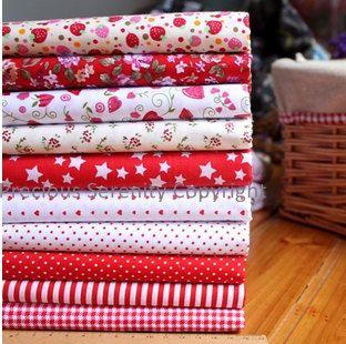 Bargain 10 pieces Cotton Fabric square fat by PreciousSerenity, £13.99