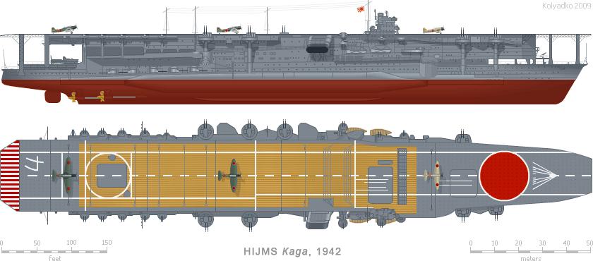 Kaga Aircraft Carrier Navy Ships Imperial Japanese Navy Aircraft Carrier