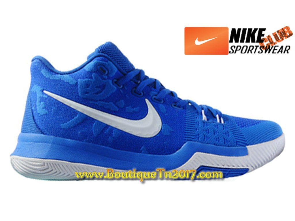 De Basketball Bleu Pas Homme Blanc 3 Chaussures Cher Nike Kyrie Pour qHp466