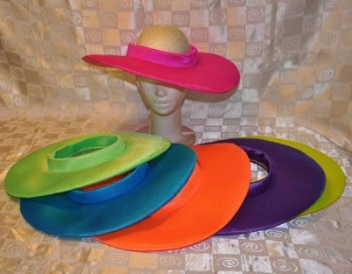 Gorros Sombreros Cotillon Tela Bondeada Fluo Carioca Eventos ... 46385c72daf