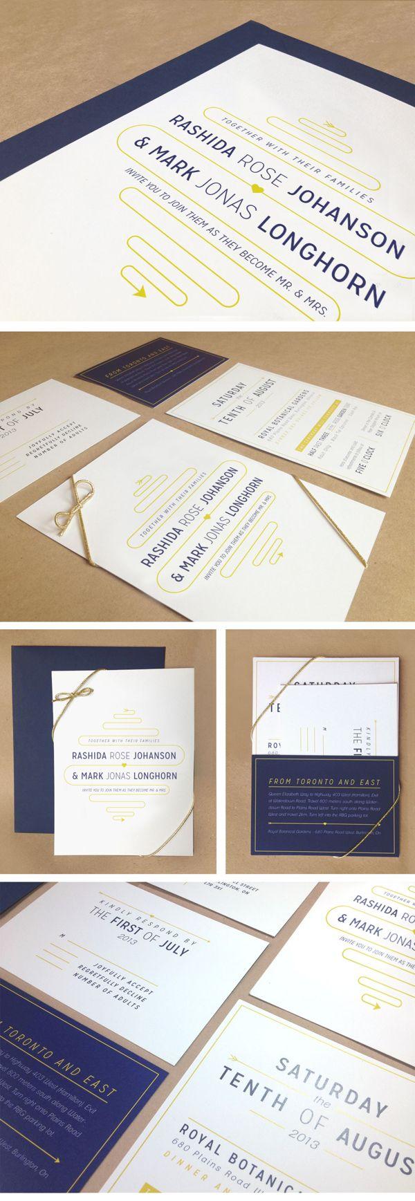 Wedding Invitation Design by Sabrina Smelko, via Behance | Wedding ...
