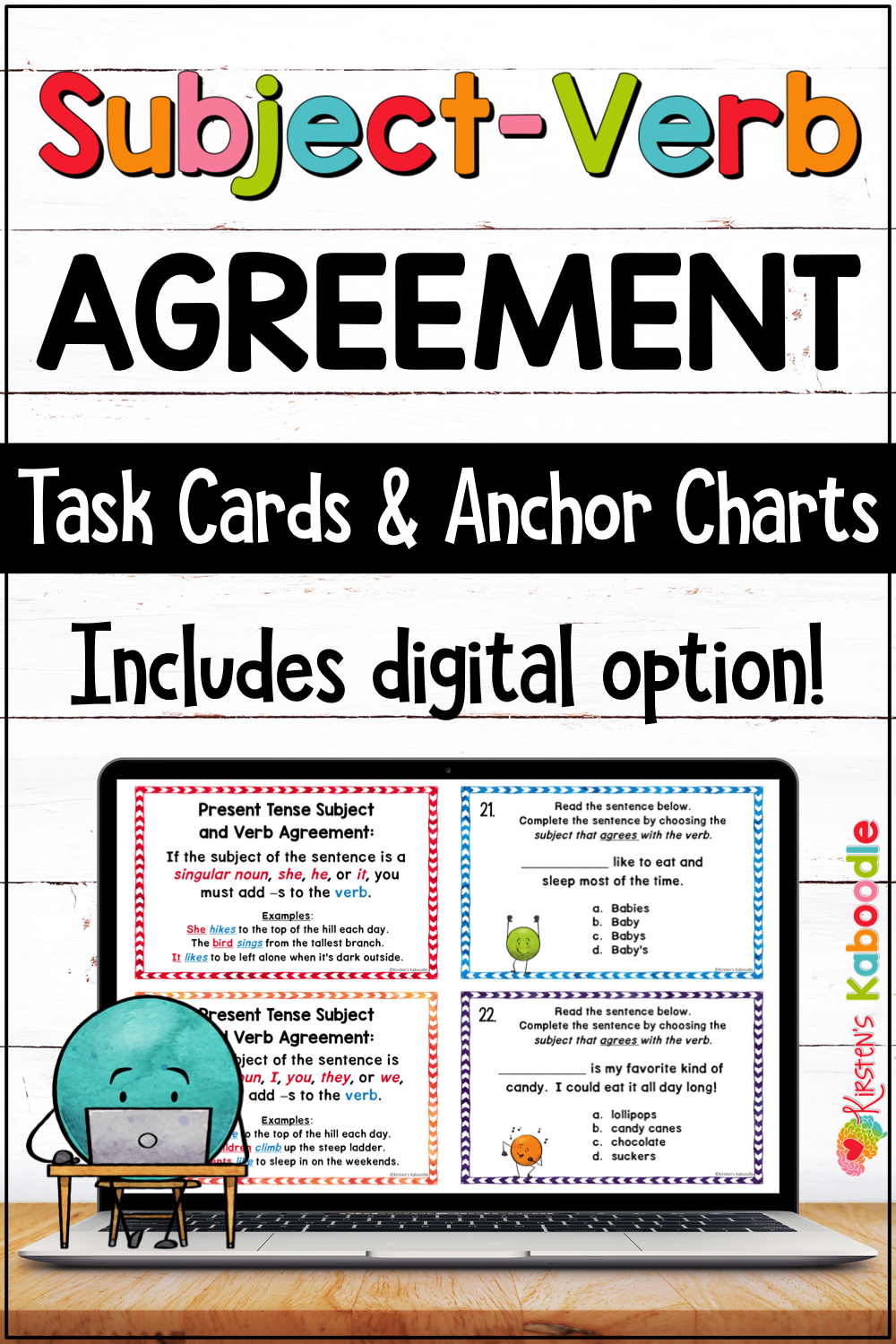 Subject Verb Agreement Anchor Charts With Rules And Task Cards Activities With Digital Option Subject And Verb Subject Verb Agreement Anchor Charts [ 1500 x 1000 Pixel ]