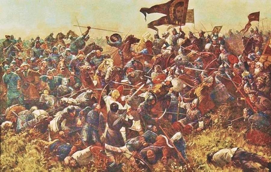 Sergei Prisekin. The Battle of Kulikovo. 1994 | Russian ...