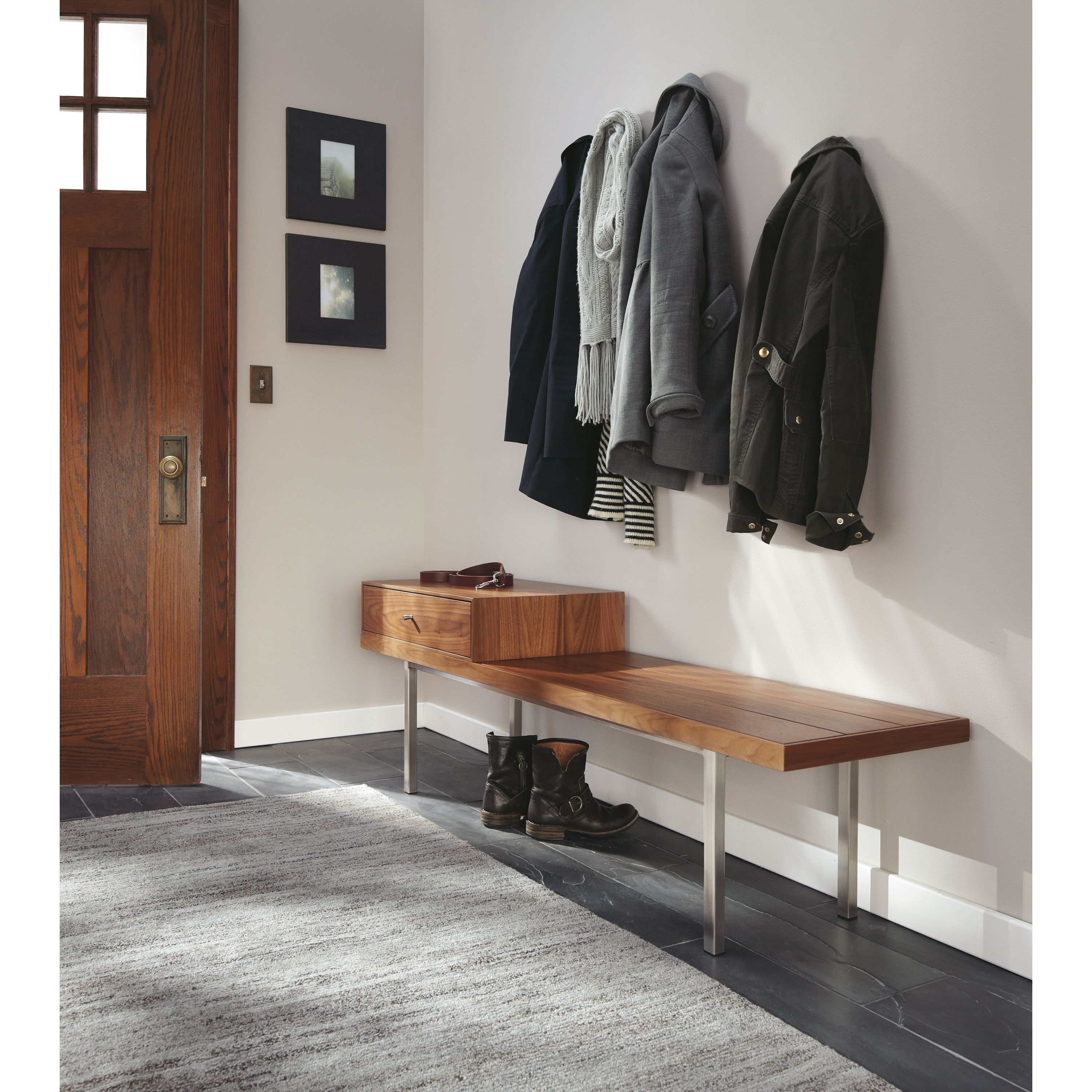 Morris Bench with Drawer - Modern Benches, Stools & Ottomans - Modern Living Room Furniture - Room & Board