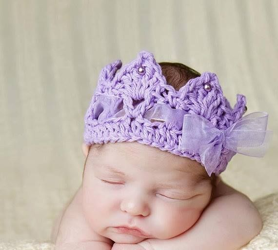 Purple Ribbon Headband For Newborn Babies Yeni Doan Pinterest