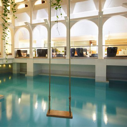 Swing and indoor pool sanctuary spa find this and more - Outdoor swimming pool covent garden ...