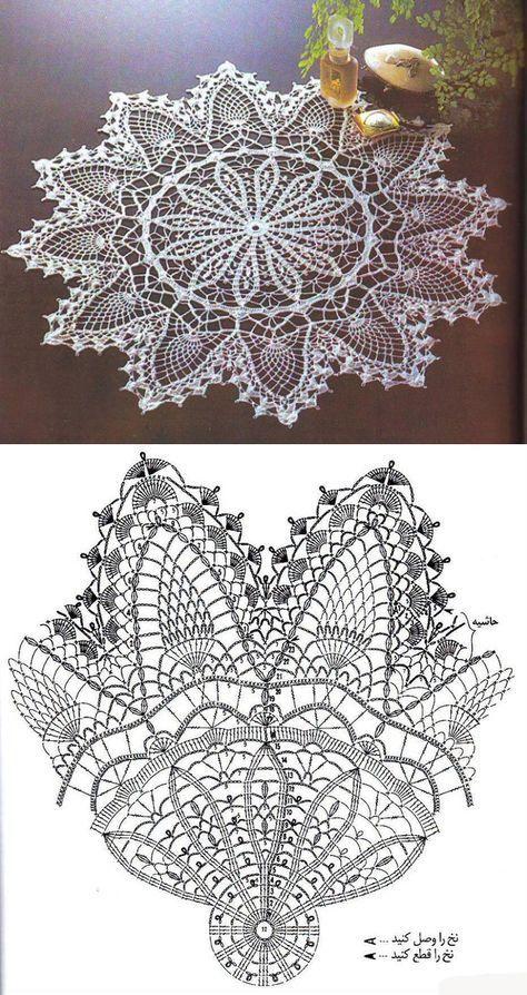 салфетки скатерти Doilies Crochet вязание скатерти крючком