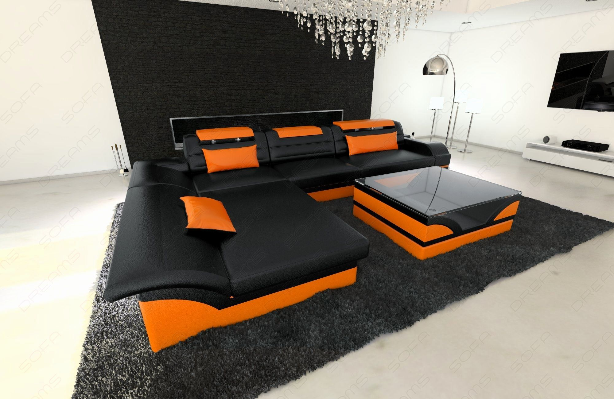 Luxury orange Modern sofa Pictures Orange Modern sofa Lovely Modern ...