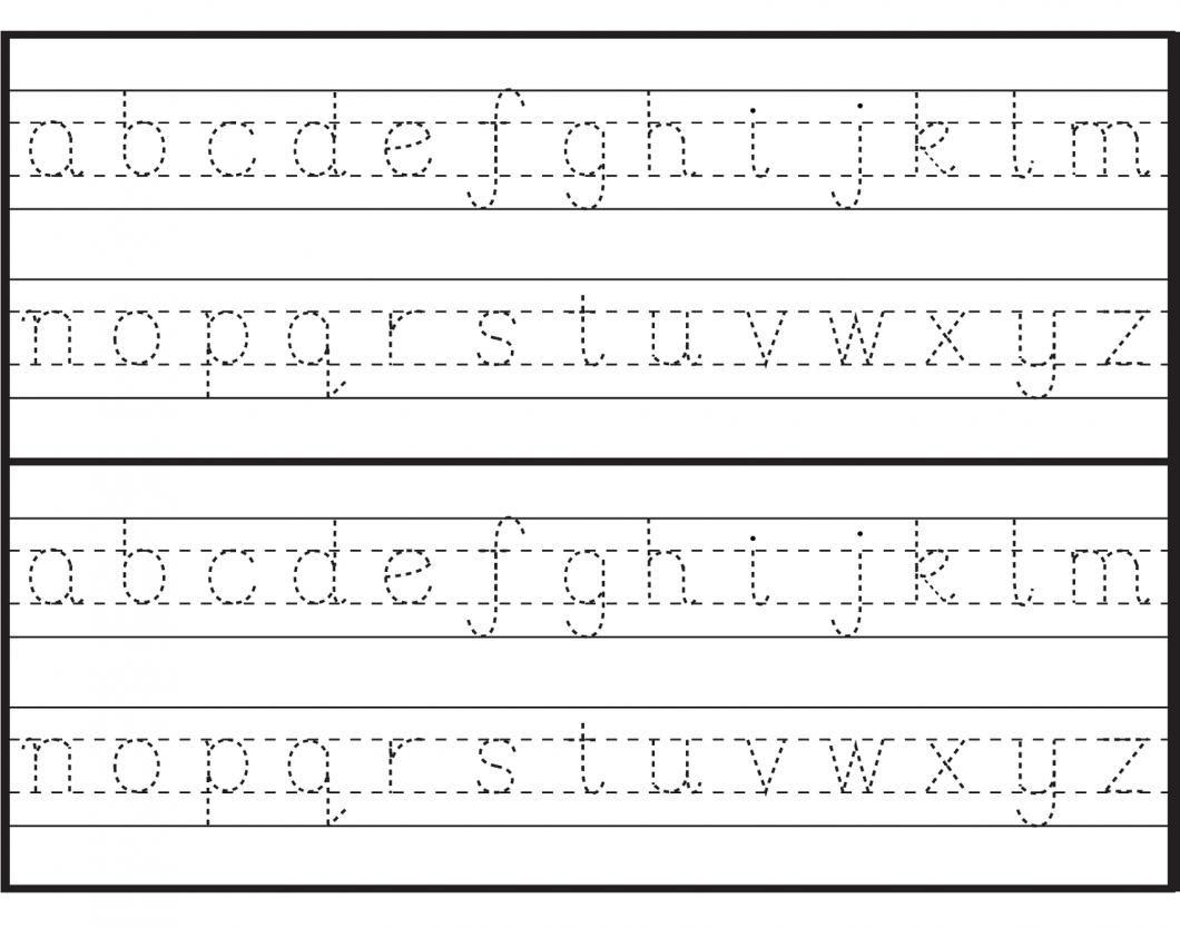 Alphabet Handwriting Worksheets For Kindergarten In