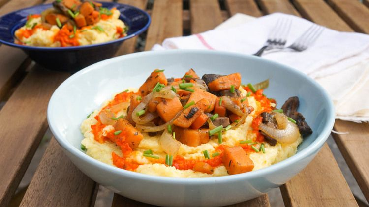 Autumnal Veggies over Creamy Polenta — Kitschen Cat