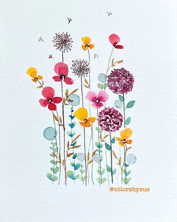 Check out these easy watercolor flower ideas. I love these floral watercolor paintings because there are even step-by-step watercolor tutorials.