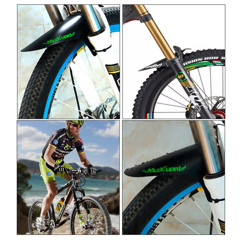 BICYCLE MTB CYCLING FRONT  MUD GUARDS MUD SET MOUNTAIN BIKE TIRE FENDERS