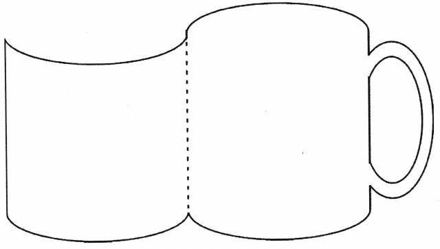 Cup Card Templates Snowman Soup Mug Template Paper