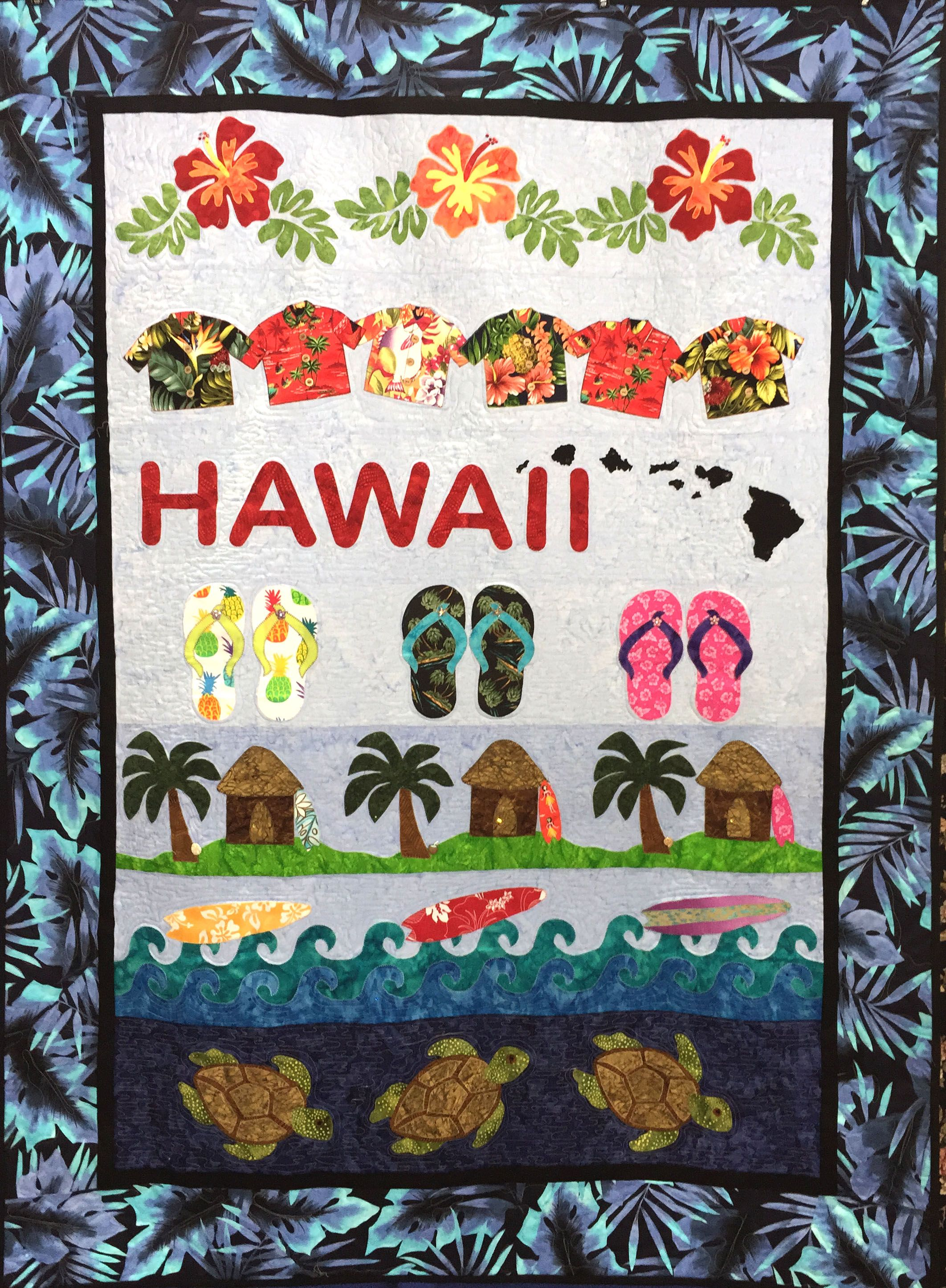 Hawaii Row by Row from Aloha Quilt Designs www.alohaquiltshop.com ...