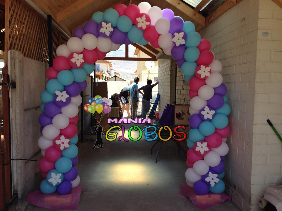 Arco de globos frozen deco globos pinterest arco de for Decoracion con globos precios