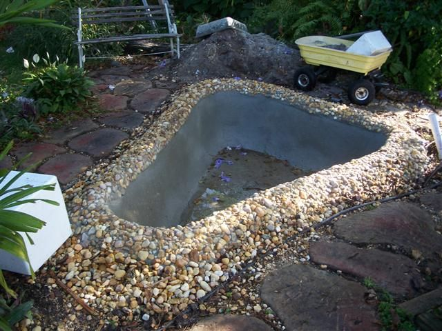 Concrete pond diy tadege pond and water garden for Concrete pond design