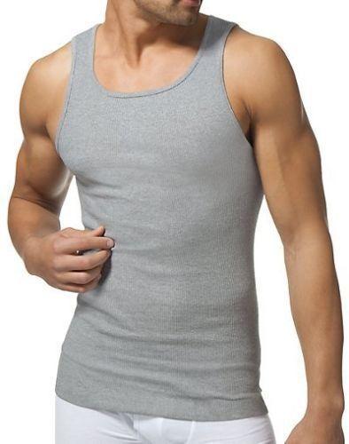 4939cb2416cd 3 Pack Champion Men s Ribbed Tank Top Wife Beater Undershirt Size XL  Grey Black  Champion  Tank