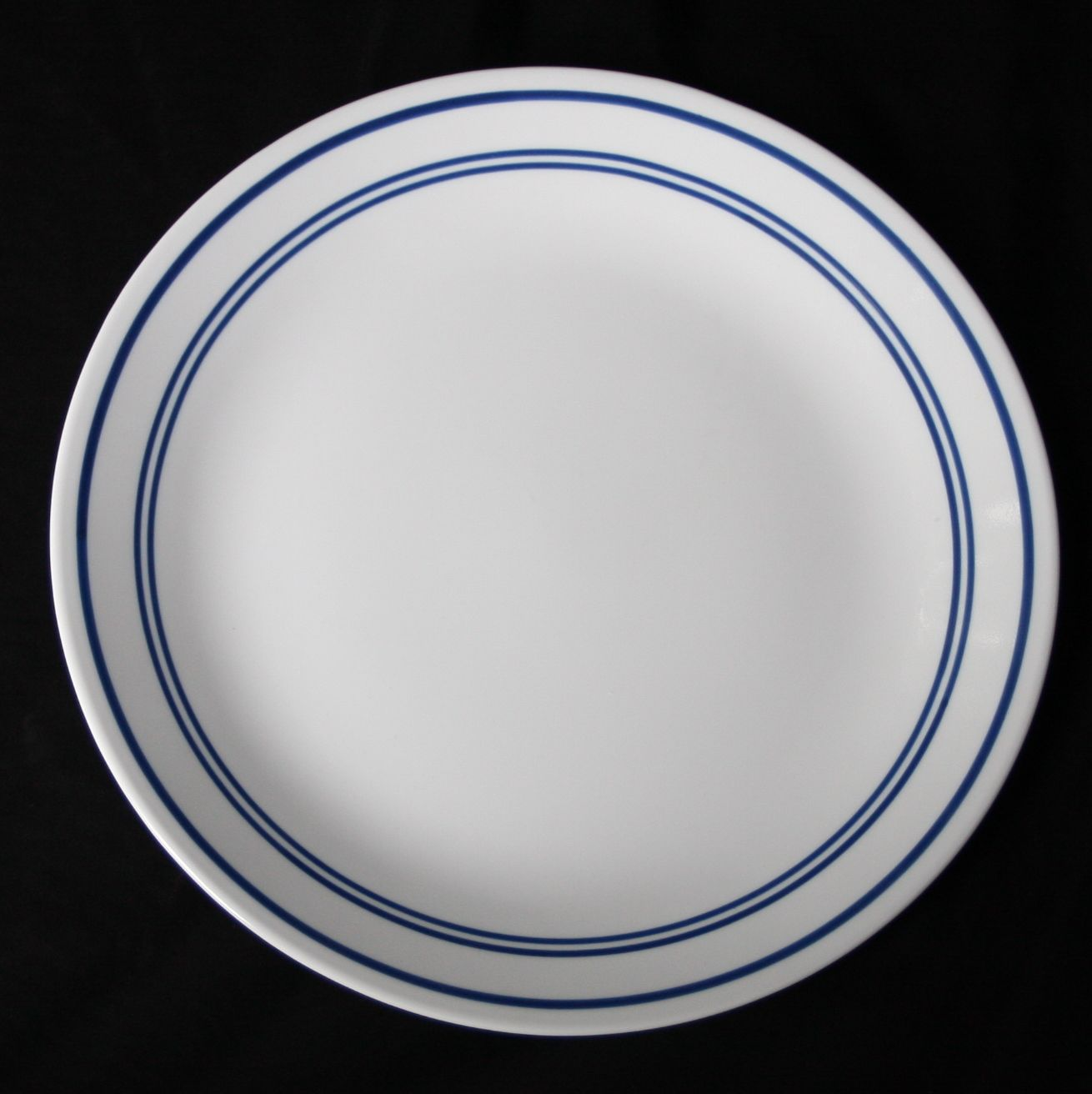Corning Corelle Classic Cafe Blue Cereal Bowl 3 Blue Lines on White ...