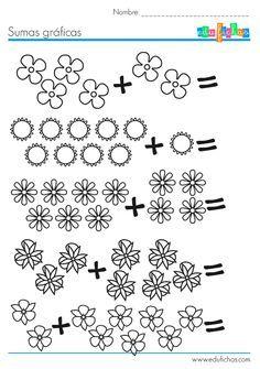 Fichas de matematicas para aprender a sumar. http://www.edufichas ...