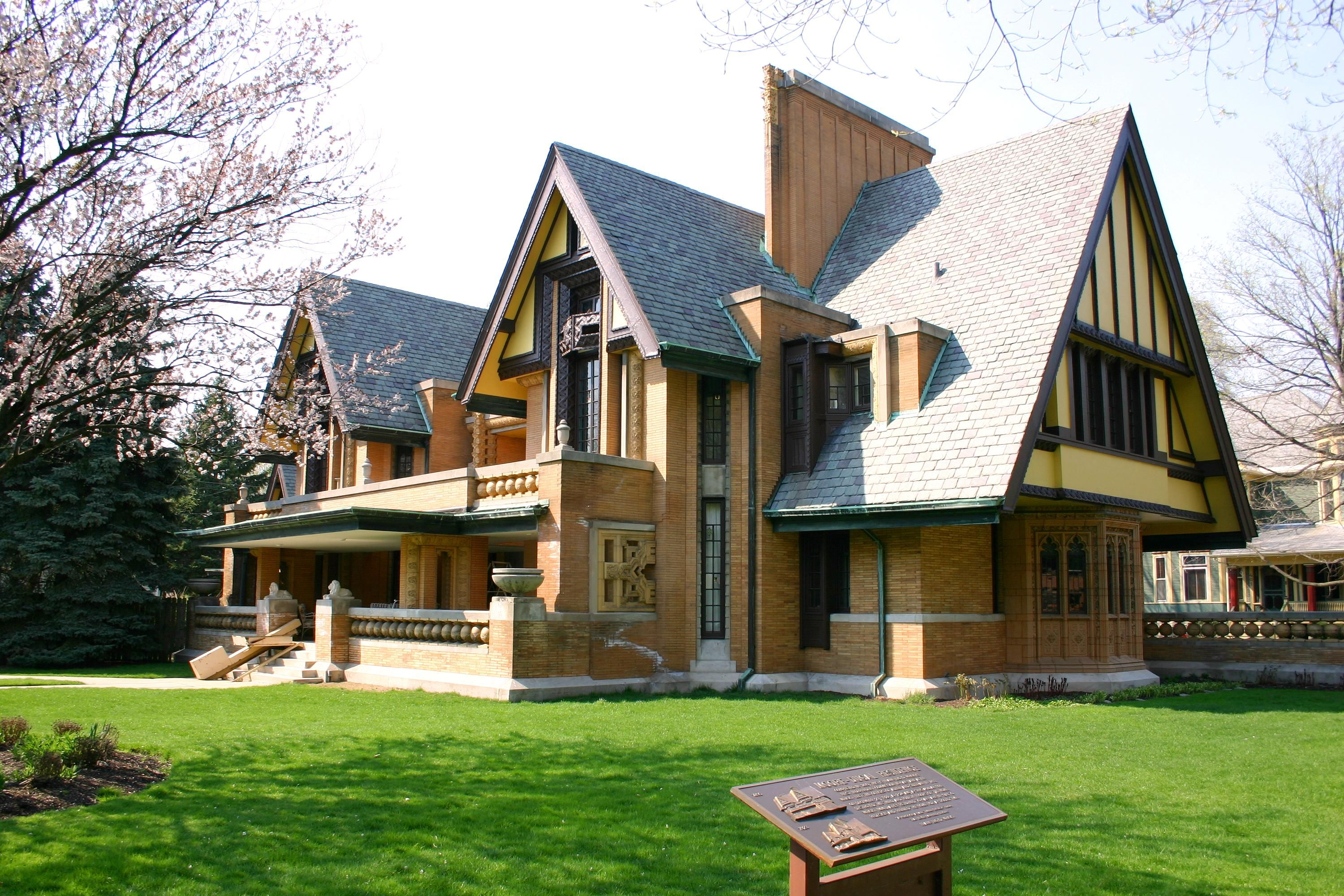 Frank Lloyd Wright Architectural Style arthur b heurtley house (frank lloyd wright 1902) oak park