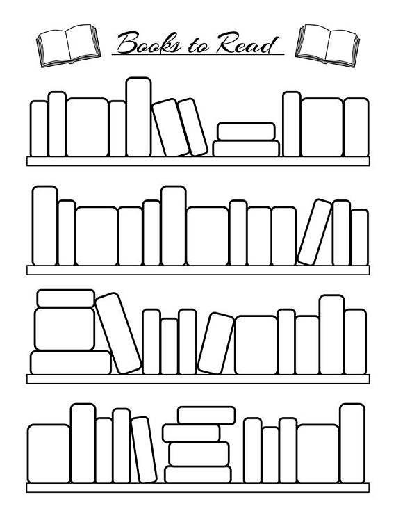 Bullet Journal Reading Tracker Printable, Books to Read Planner, Book Tracker, Book List, Reading Log, Bujo Printable Planner Insert PDFs