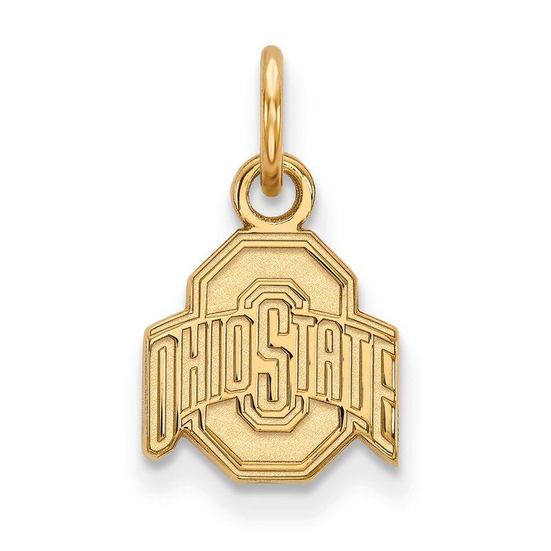 Ohio State Buckeyes Women's Gold Plated XS Pendant #ohiostatebuckeyes