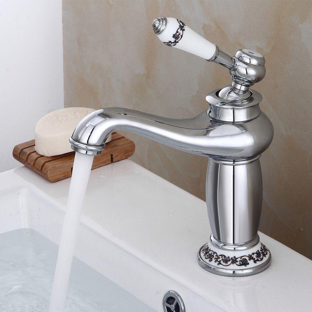 Retro-Vintage-Einhebel-Wasserhahn-Waschbecken-Mischbatterie-Kueche