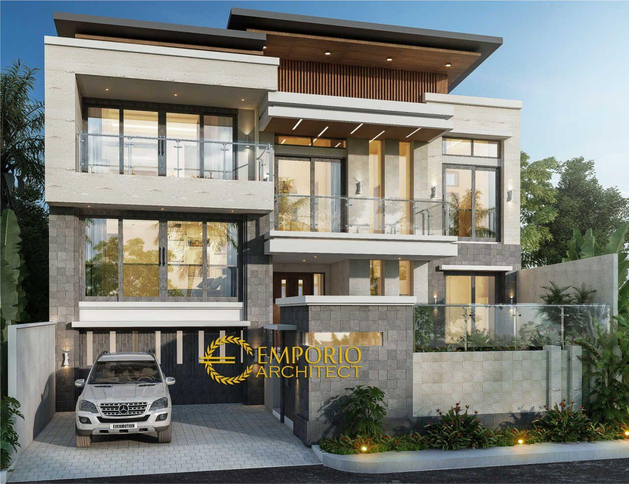 Desain Rumah Modern 2 5 Lantai Ibu Ilena Di Semarang Jasa Arsitek Desain Rumah Berkualitas Desain Villa Bali Modern Profesio Di 2020 Arsitek Desain Rumah Arsitektur